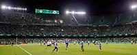 28th August 2021; Benito Villamarín Stadium, Seville, Spain, Spanish La Liga Football, Real Betis versus Real Madrid; The teams warm up before the game