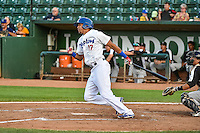 Alex Santana (17) of the Ogden Raptors at bat against the Grand Junction Rockies in Pioneer League action at Lindquist Field on September 3, 2015 in Ogden, Utah. Grand Junction defeated Ogden 16-8. (Stephen Smith/Four Seam Images)