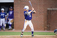 Conner Dunbar (24) of the High Point Panthers at bat against the NJIT Highlanders during game two of a double-header at Williard Stadium on February 18, 2017 in High Point, North Carolina.  The Highlanders defeated the Panthers 4-2.  (Brian Westerholt/Four Seam Images)