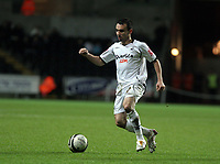 Pictured: Leon Britton of Swansea<br /> Re: Coca Cola Championship, Swansea City FC v Barnsley at the Liberty Stadium. Swansea, south Wales, Tuesday 09 December 2008.<br /> Picture by D Legakis Photography / Athena Picture Agency, Swansea 07815441513