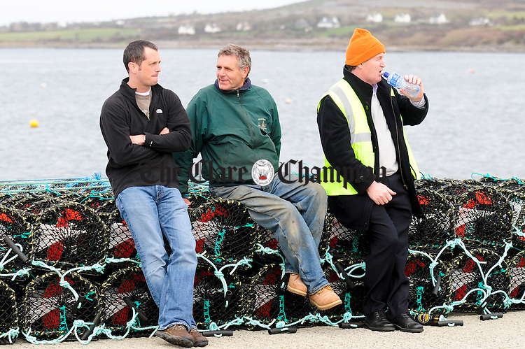 Gordon ramsey ion Ballyvaughan Pier.Pic Arthur Ellis.