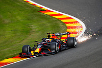 28th August 2020, Spa Francorhamps, Belgium, F1 Grand Prix of Belgium Motorsports: FIA Formula One World Championship 2020, Grand Prix of Belgium, free practise sessions; 33 Max Verstappen NLD, Aston Martin Red Bull Racing