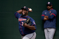 Minnesota Twins pitcher Michael Pineda (35) during a Spring Training practice on February 20, 2020 at Hammond Stadium in Fort Myers, Florida.  (Mike Janes/Four Seam Images)