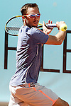Viktor Troicki, Serbia, during Madrid Open Tennis 2016 match.May, 2, 2016.(ALTERPHOTOS/Acero)
