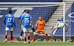 02.05.2121 Rangers v Celtic: David Turnbull with a diving header