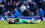 Jamie Langfield distraught after Rangers score to win the game