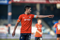 9th January 2021; Kenilworth Road, Luton, Bedfordshire, England; English FA Cup Football, Luton Town versus Reading; Dan Potts of Luton Town gives directions.