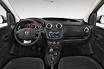 Stock photo of straight dashboard view of a 2015 Dacia Dokker Stepway 5 Door Minimpv Dashboard
