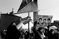 """Teheran, Iran, March 31, 2007.Aproximatively 10000 showed up for the """"Islamic Republic Day"""" party organized by the municipality in Enqelab square and adjacent avenue, but for most people present it was simply a celebration of the coming of the spring during the Iranian New Year (Norouz) holidays..."""