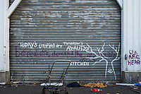 Squat in Calais a day after the French police raid. Calais, France. Apr. 01, 2015