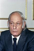 Rene Levesque  a la tribune du Cercle canadien de Montreal, le 3 avril 1978, a l'hotel Windsor<br /> <br /> Photo:  Agence Quebec Presse
