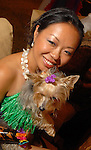Miiya Shay with her dog Mei Ling at the Citizens for Animal Protection owner/pet fashion show at the Hilton Americas Houston Saturday June 06,2009.(Dave Rossman/For the Chronicle)
