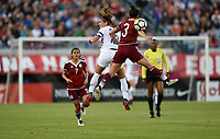 Jacksonville, FL - Thursday April 5, 2018: Alex Morgan, Bianca Sierra during an International friendly match versus the women's National teams of the United States (USA) and Mexico (MEX) at EverBank Field.