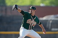 Greensboro Grasshoppers starting pitcher Ben Holmes (47) in action against the Hickory Crawdads at L.P. Frans Stadium on May 6, 2015 in Hickory, North Carolina.  The Crawdads defeated the Grasshoppers 1-0.  (Brian Westerholt/Four Seam Images)