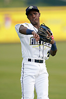 Second baseman Tyler Tolbert (2) of the Columbia Fireflies before a game against the Charleston RiverDogs on Tuesday, May 11, 2021, at Segra Park in Columbia, South Carolina. (Tom Priddy/Four Seam Images)