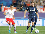 Atletico de Madrid's Saul Niguez (r) and SL Benfica's Ljubomir Felsa during Champions League 2015/2016 match. September 30,2015. (ALTERPHOTOS/Acero)