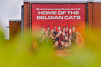 outside sports hall Lange Munte pictured before a basketball game between the national teams of Belgium , called the Belgian Cats , and Serbia on Friday 28 th of May 2021 in Kortrijk , Belgium . PHOTO SPORTPIX.BE | SPP | STIJN AUDOOREN