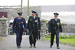 Chief Constable George Hamilton arrives at The Funeral of Garda Anthony Golden RIP in St Oliver's church Blackrock Co Louth.<br /> <br /> Garda Golden was guned down in Omeath last Sunday.<br /> Picture Newsfile | Fran Caffrey