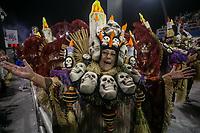 SÃO PAULO, SP, 01.03.2019: CARNAVAL-SP – Apresentação da escola de samba Acadêmico do Tucuruvi durante o primeiro dia de desfile do Grupo Especial do carnaval de São Paulo, nesta sexta-feira (01), no Sambódromo do Anhembi na capital paulista. (Foto: Marivaldo Oliveira/Código19)