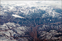 Himalaya mountains from above.