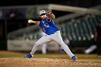 Oklahoma City Dodgers relief pitcher Louis Head (26) during a Pacific Coast League game against the New Orleans Baby Cakes on May 6, 2019 at Shrine on Airline in New Orleans, Louisiana.  New Orleans defeated Oklahoma City 4-0.  (Mike Janes/Four Seam Images)