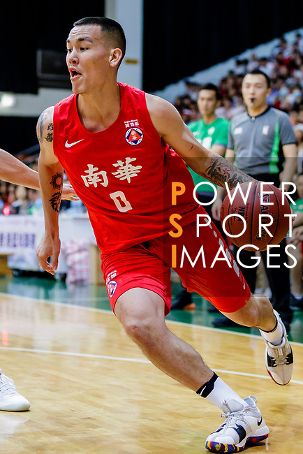 Glen Tang Robertson #00 of SCAA Men's Basketball Team goes to the basket during the Hong Kong Basketball League game between Tycoon and SCAA at Southorn Stadium on May 23, 2018 in Hong Kong. Photo by Yu Chun Christopher Wong / Power Sport Images