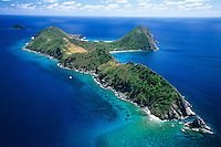 Aerial view of Ginger Island in the British Virgin Islands
