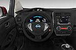 Car pictures of steering wheel view of a 2017 Nissan LEAF S 5 Door Hatchback Steering Wheel