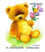 GIORDANO, CUTE ANIMALS, LUSTIGE TIERE, ANIMALITOS DIVERTIDOS, Teddies, paintings+++++,USGI1876M,#AC# teddy bears