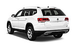 Car pictures of rear three quarter view of 2018 Volkswagen Atlas SEL 5 Door SUV angular rear