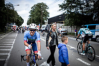 Thomas Boudat (FRA/Total Direct Energie) wins the race after he managed to make the crossing from the chasing group to the front group in the final phase of the race <br /> <br /> Circuit de Wallonie 2019<br /> One Day Race: Charleroi – Charleroi 192.2km (UCI 1.1.)<br /> Bingoal Cycling Cup 2019