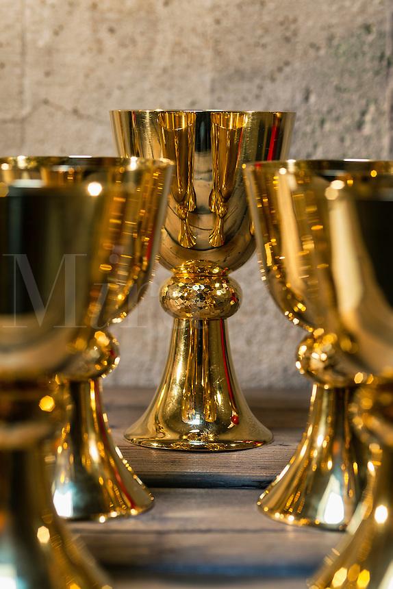 Sacristy preparation for the celebration of a catholic mass.