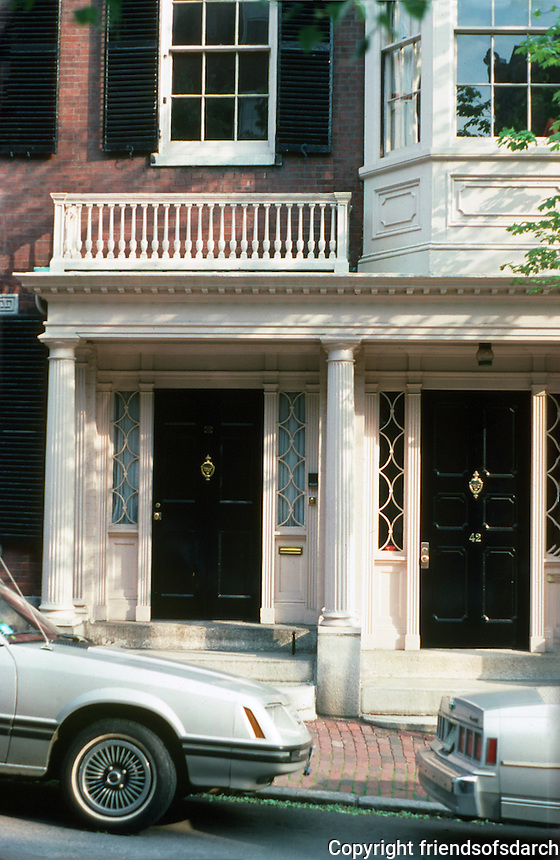 Boston:  Nos. 40 and 42 Chestnut St., Beacon Hill.  Photo '88.