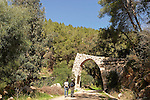 Israel, Jerusalem Mountains.Hiking in  Bnai Brith Martyrs' Forest