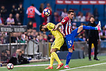 Jose Maria Gimenez de Vargas of Atletico de Madrid (R) fights for the ball with Mateo Pablo Musacchio of Villarreal CF (L) during the La Liga match between Atletico de Madrid vs Villarreal CF at the Estadio Vicente Calderon on 25 April 2017 in Madrid, Spain. Photo by Diego Gonzalez Souto / Power Sport Images