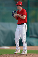 Parker Holland (66), from Marion, Illinois, while playing for the Cardinals during the Baseball Factory Pirate City Christmas Camp & Tournament on December 28, 2017 at Pirate City in Bradenton, Florida.  (Mike Janes/Four Seam Images)