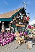 Just originals log cabin store in Historic Pioneer Park, Fairbanks, Alaska.