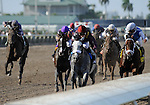 S. S. Stone (no. 10), ridden by Julien Leparoux and trained by Nick Zito, wins the  24th running of the grade 3 Skip Away Stakes for four year olds and upward on April 3, 2011 at Gulfstream Park in Hallandale Beach, Florida.  (Bob Mayberger/Eclipse Sportswire)