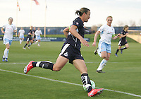 Abby Wambach #20 of the Washington Freedom cuts into the Chicago Red Stars penalty area during a WPS match at Maryland Soccerplex on April 11 2009, in Boyd's, Maryland. The game ended in a 1-1 tie