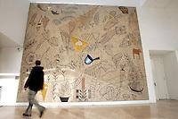 Un mosaico dell'artista italiano Mimmo Paladino, di fronte all'Ara Pacis a Roma, 10 marzo 2008..A mosaic of the Italian artist Mimmo Paladino, in the auritorium of the Ara Pacis, in Rome, 10 march 2008..UPDATE IMAGES PRESS/Riccardo De Luca