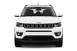 Car photography straight front view of a 2017 JEEP Compass Latitude 5 Door SUV Front View