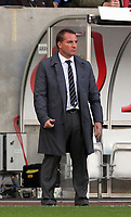Pictured: Brendan Rodgers manager of Swansea City. Saturday 17 September 2011<br /> Re: Premiership football Swansea City FC v West Bromwich Albion at the Liberty Stadium, south Wales.