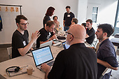Momentum Hackathon.  Collaborative election software development workshop, Shoreditch, London.