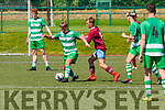 Evan Looney Killarney Celtic  takes on Tom Kidd Mervue United in the FAI Youth Cup semi final in Celtic Park on Saturday