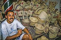 Tunisia.  Tunis Medina.  Souvenir Salesman Najib ben Bayan.