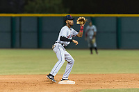 AZL Indians 2 second baseman Gionti Turner (10) prepares to catch a throw between innings of an Arizona League game against the AZL Cubs 2 at Sloan Park on August 2, 2018 in Mesa, Arizona. The AZL Indians 2 defeated the AZL Cubs 2 by a score of 9-8. (Zachary Lucy/Four Seam Images)