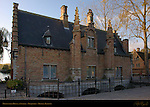 Minnewater House at Sunrise, Begijnhof, Bruges, Brugge, Belgium