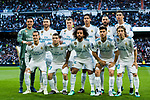 Players of Real Madrid line up and pose for a photo prior to the UEFA Champions League Semi-final 2nd leg match between Real Madrid and Bayern Munich at the Estadio Santiago Bernabeu on May 01 2018 in Madrid, Spain. Photo by Diego Souto / Power Sport Images
