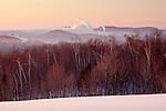 Sunrise on Walker Hill in Wilton, ME, USA