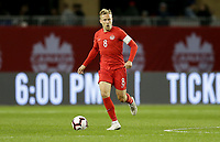 TORONTO, ON - OCTOBER 15: Scott Arfield #8 of Canada dribbles with the ball during a game between Canada and USMNT at BMO Field on October 15, 2019 in Toronto, Canada.